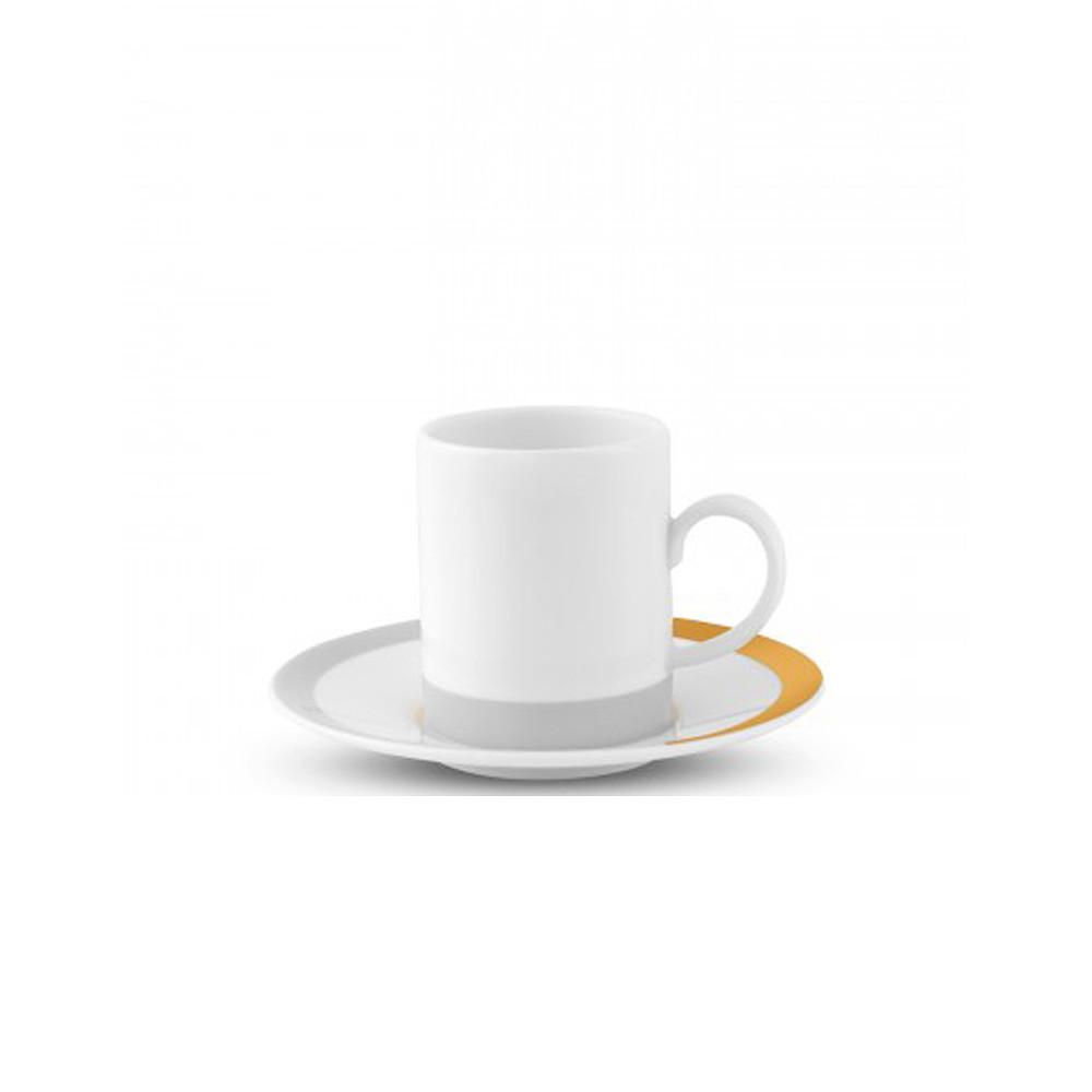 Wedgwood Vera Wang Castillon Espresso Cup and Saucer S/2