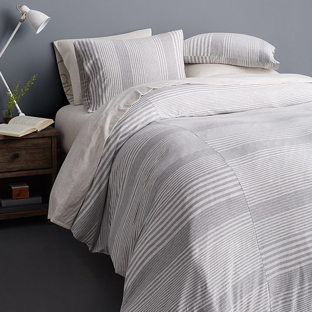 Calvin Klein Duvet Cover Grey 260x240 Modern Cotton Jersey Rhythm