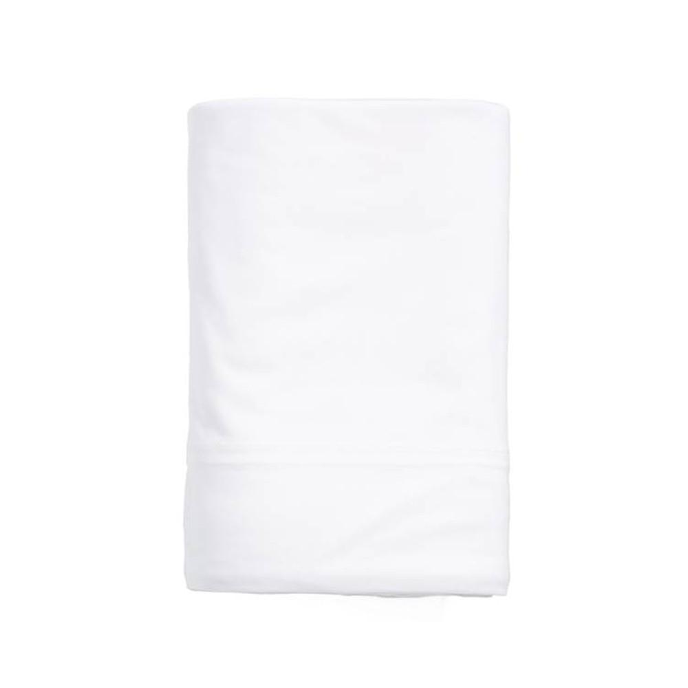 Calvin Klein Flat Sheet White 270x310 Modern Cotton Jersey Body