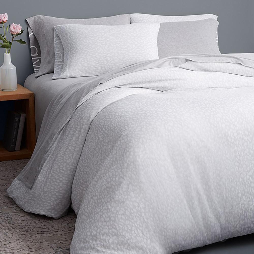Calvin Klein Duvet Cover Grey 260x240 Modern Cotton Jersey Primal