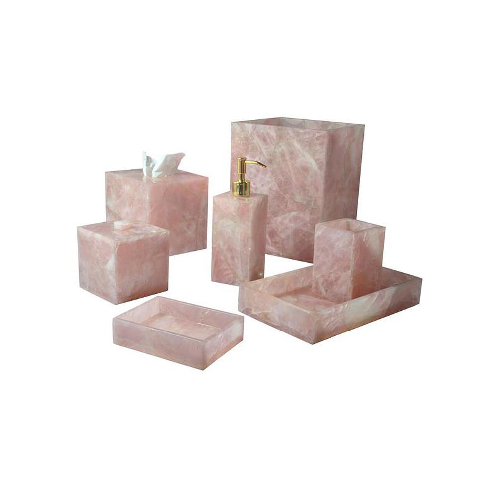 Mike & Ally Taj Rose Quartz Soap Dish