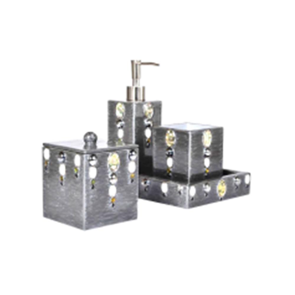 Mike & Ally Mardi Gras Box Pump Fine Silver/Stone