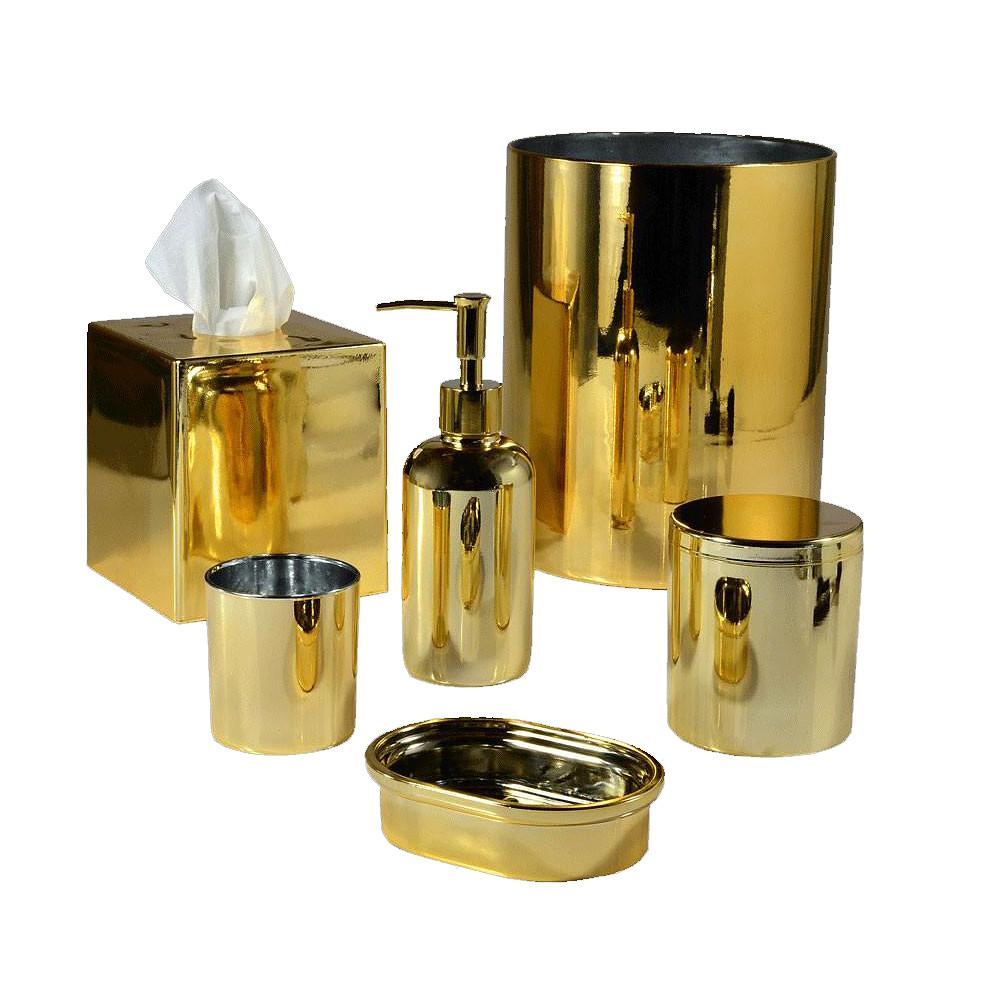Mike & Ally Nova Glass Tissue Holder Gold