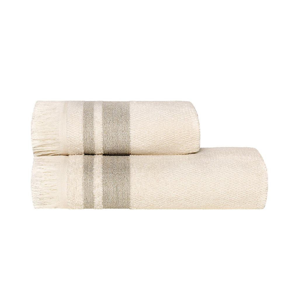 Organic Melange Towels Beige