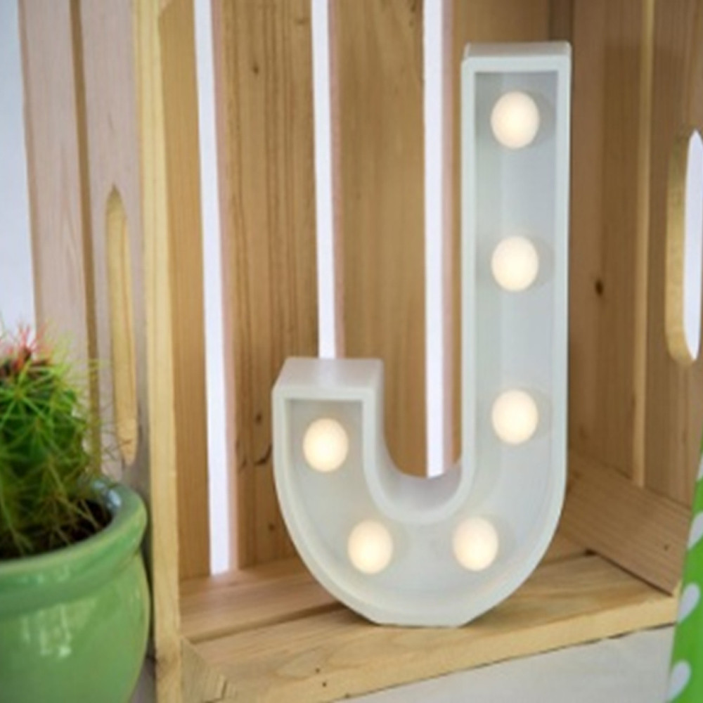 Lights & Letters Marquee Letter White J
