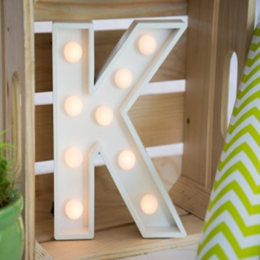 Lights & Letters Marquee Letter White K