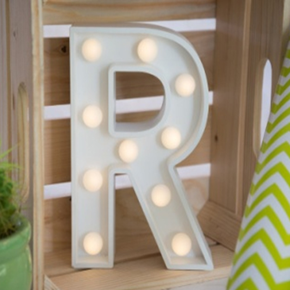 Lights & Letters Marquee Letter White R