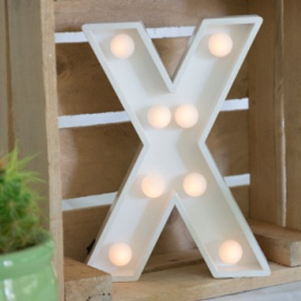 Lights & Letters Marquee Letter White X