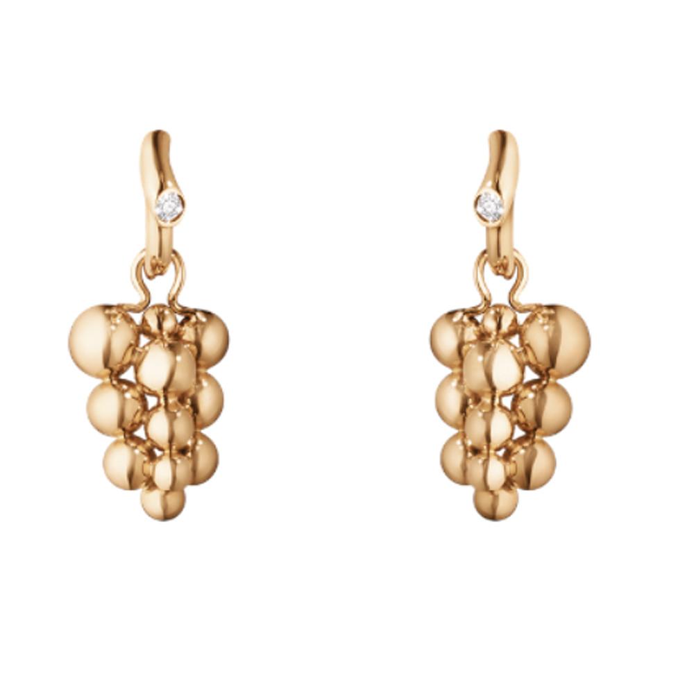 Georg Jensen Moonlight Grapes Earrings 18 Kt Rose Gold