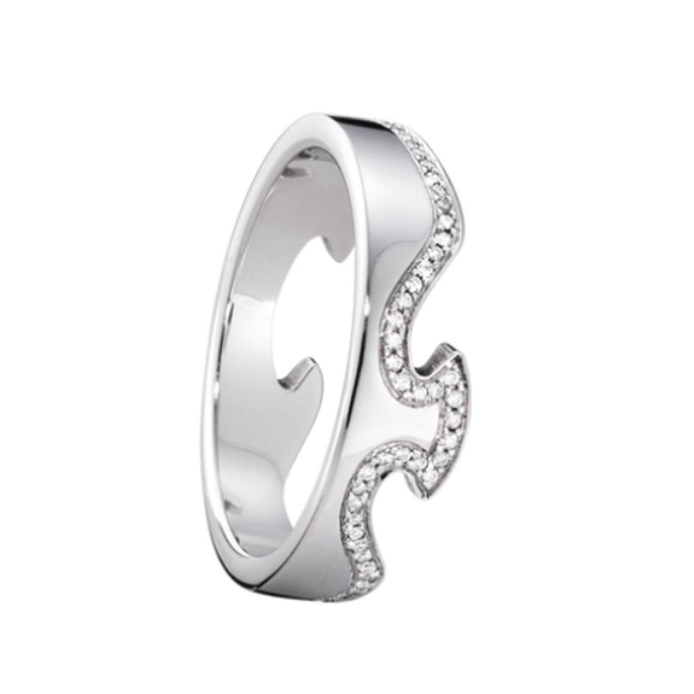 Georg Jensen Fusion End Ring 1371 Wg Diamond 017 Ct