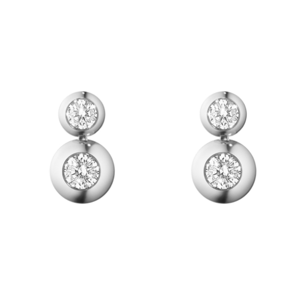 Georg Jensen Aurora Drop Earrings 1552B Wgdiamond