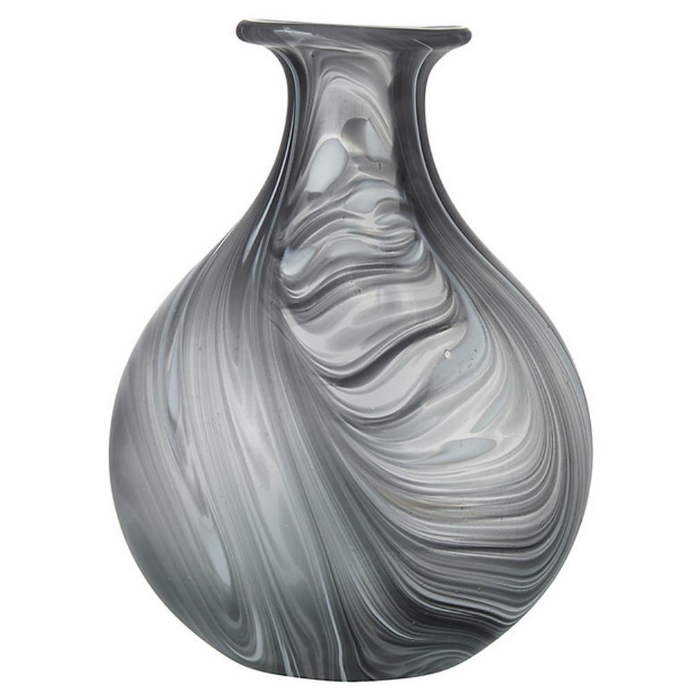 John Lewis 9305200 B/W Marble Vase 200x155x155mm