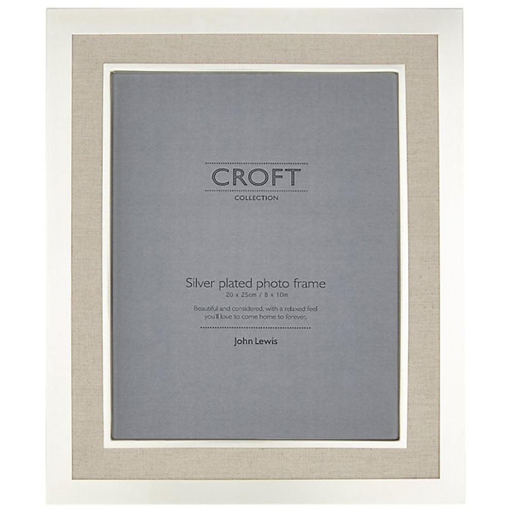 John Lewis Crft Silvr Edge Linen Frme 8X1020X25 Cm