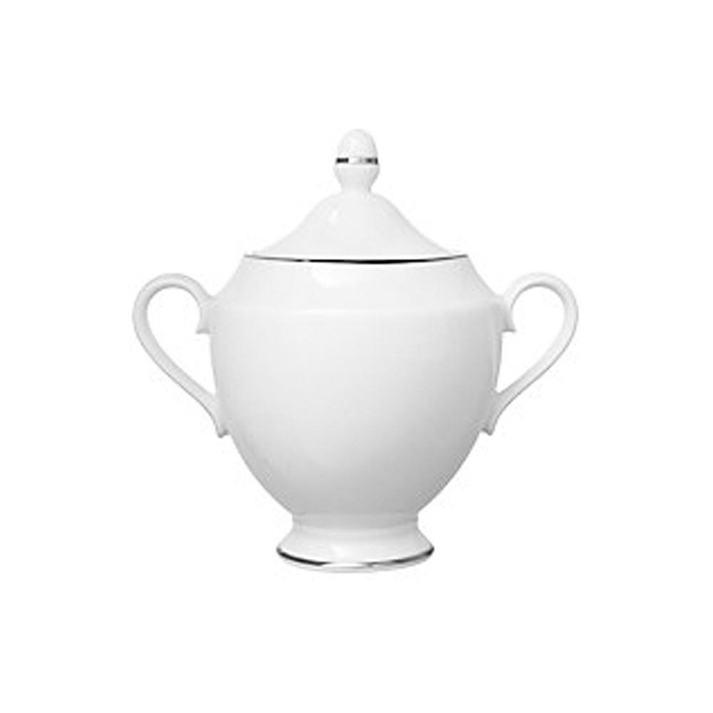 John Lewis Sugar Bowl W/Lid Platinum Band