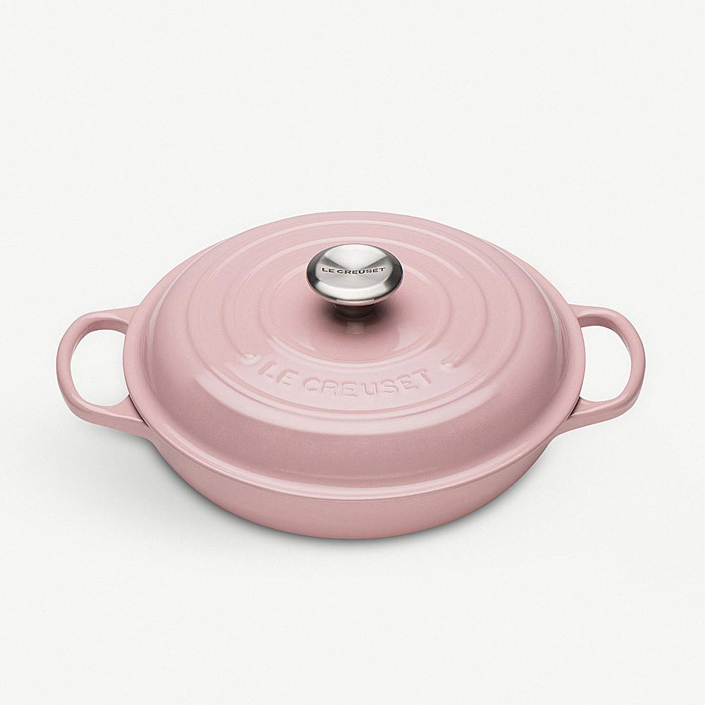 Le Creuset Casserole Shallow 26cm Chiffon Pink 5.3