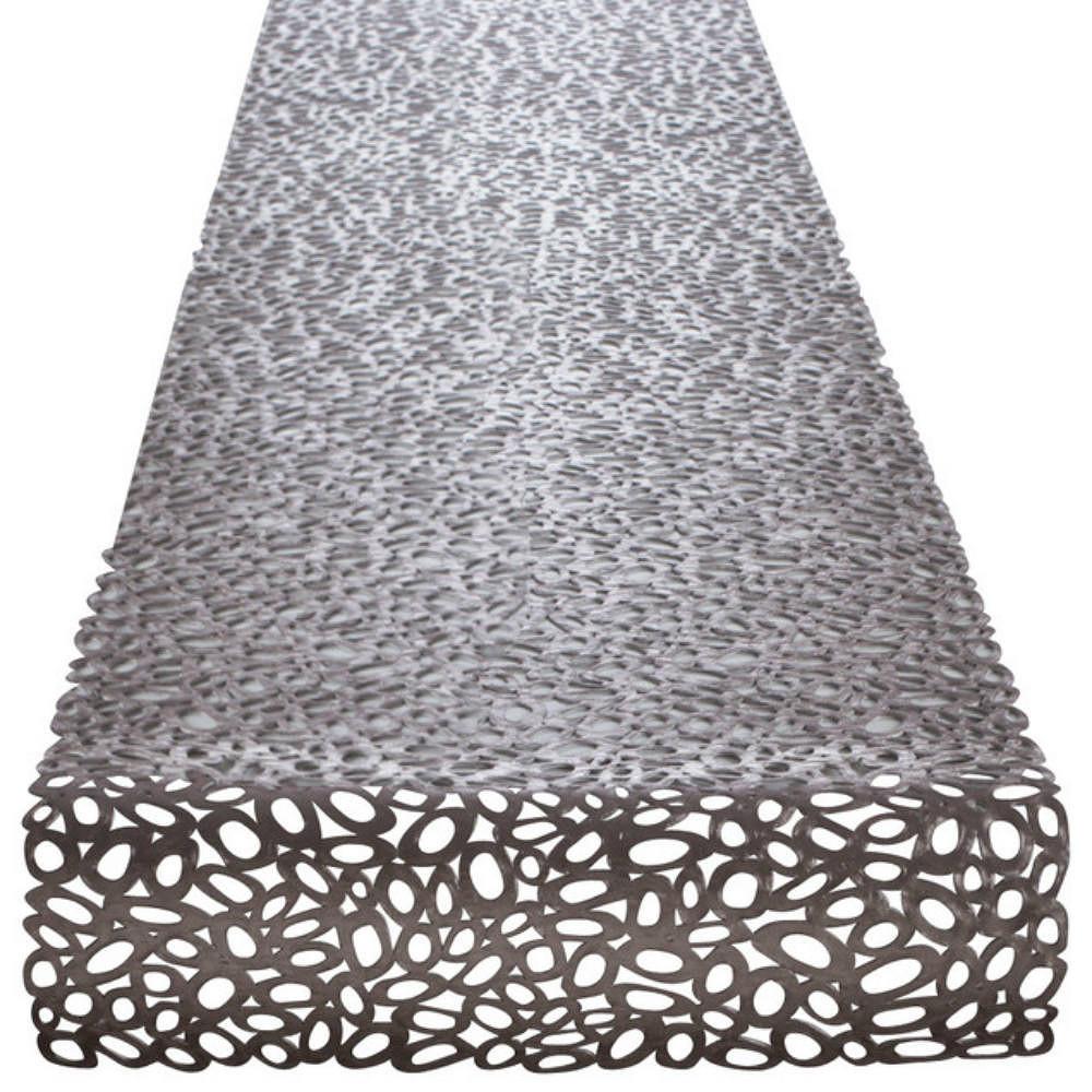 Chilewich Pebbles Runner 36x183cm Gunmetal