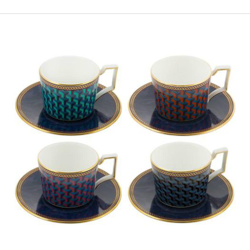 Wedgwood Set of 4 Espresso Cups w/ Saucer