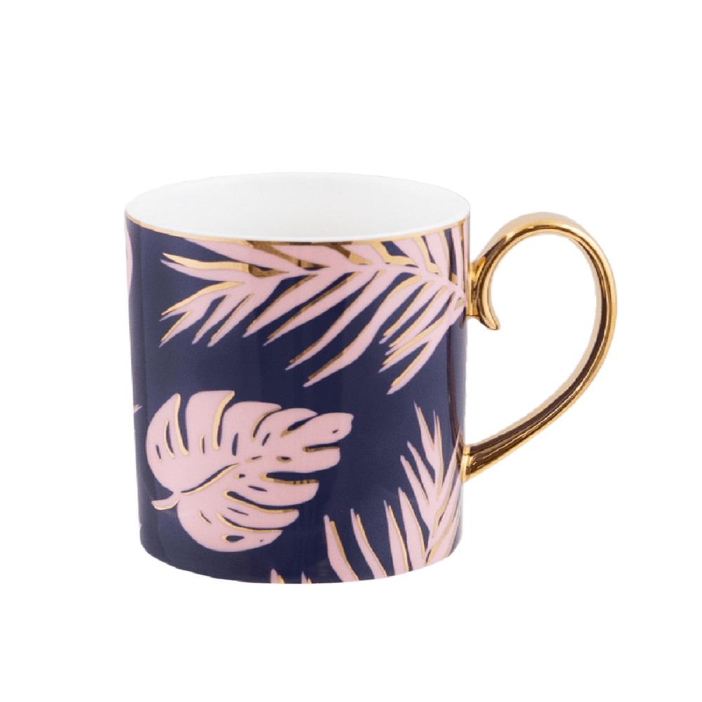 Cristina Re Blue Lagoon Mug Blue & Gold