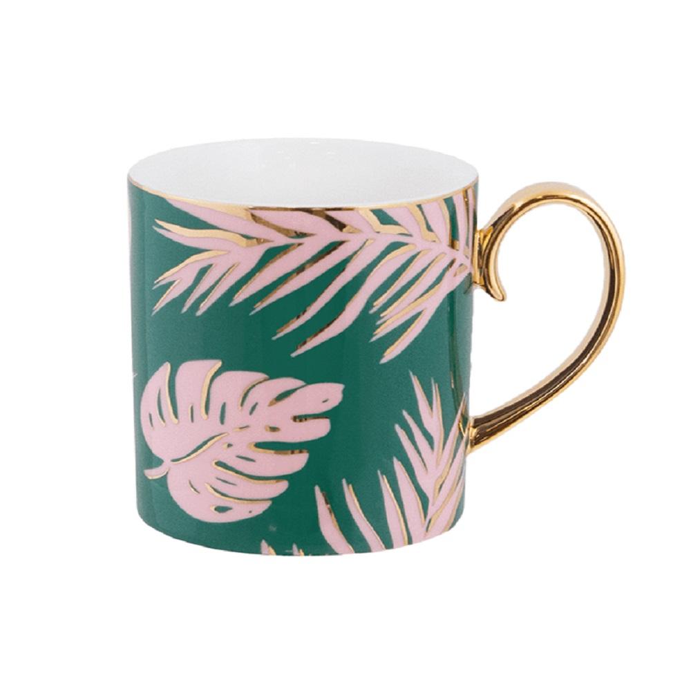 Cristina Re Emerald Island Mug Green & Gold