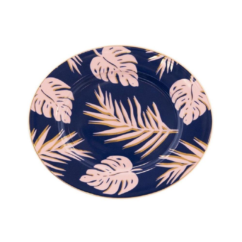 Cristina Re Blue Lagoon Side Plate Blue & Gold