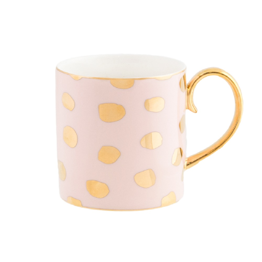 Cristina Re Polka D'Or Mug Pink & Gold