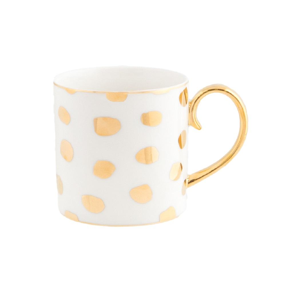 Cristina Re Polka D'Or Mug Ivory & Gold