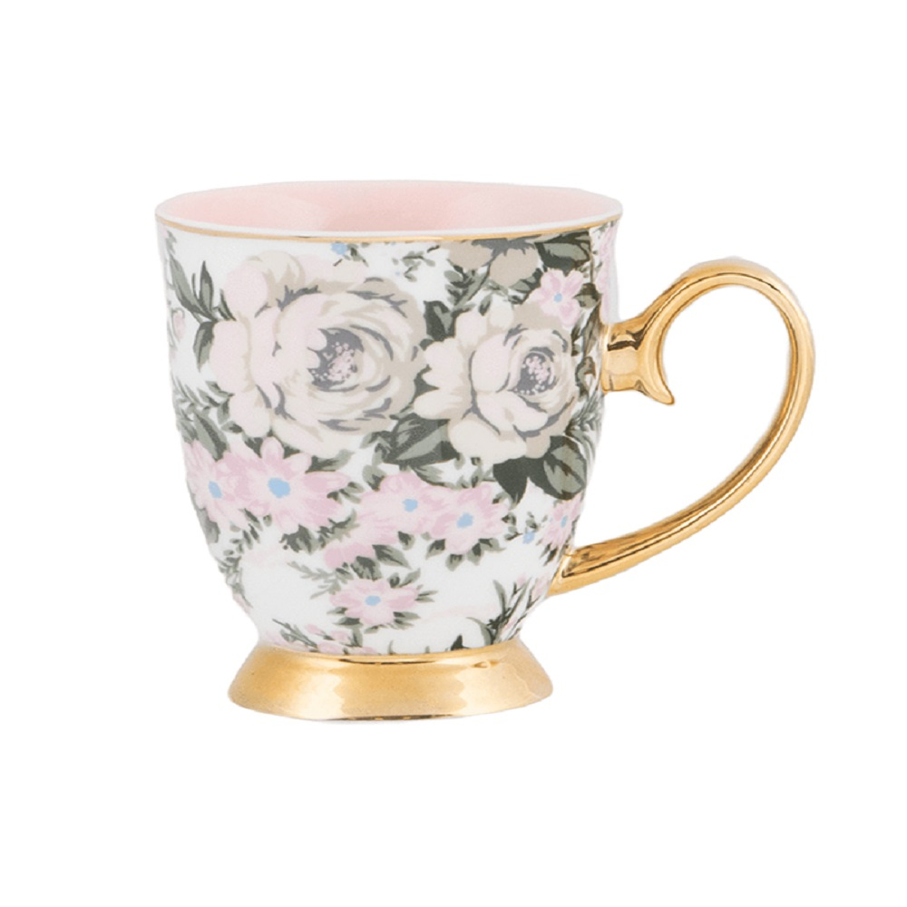 Cristina Re Mug Belle De Fleur Pink & Gold