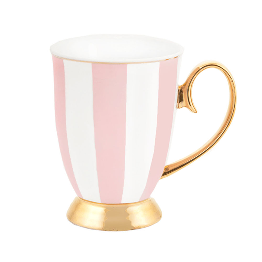 Cristina Re Signature High Tea Collection Mug Blush Stripe White & Pink