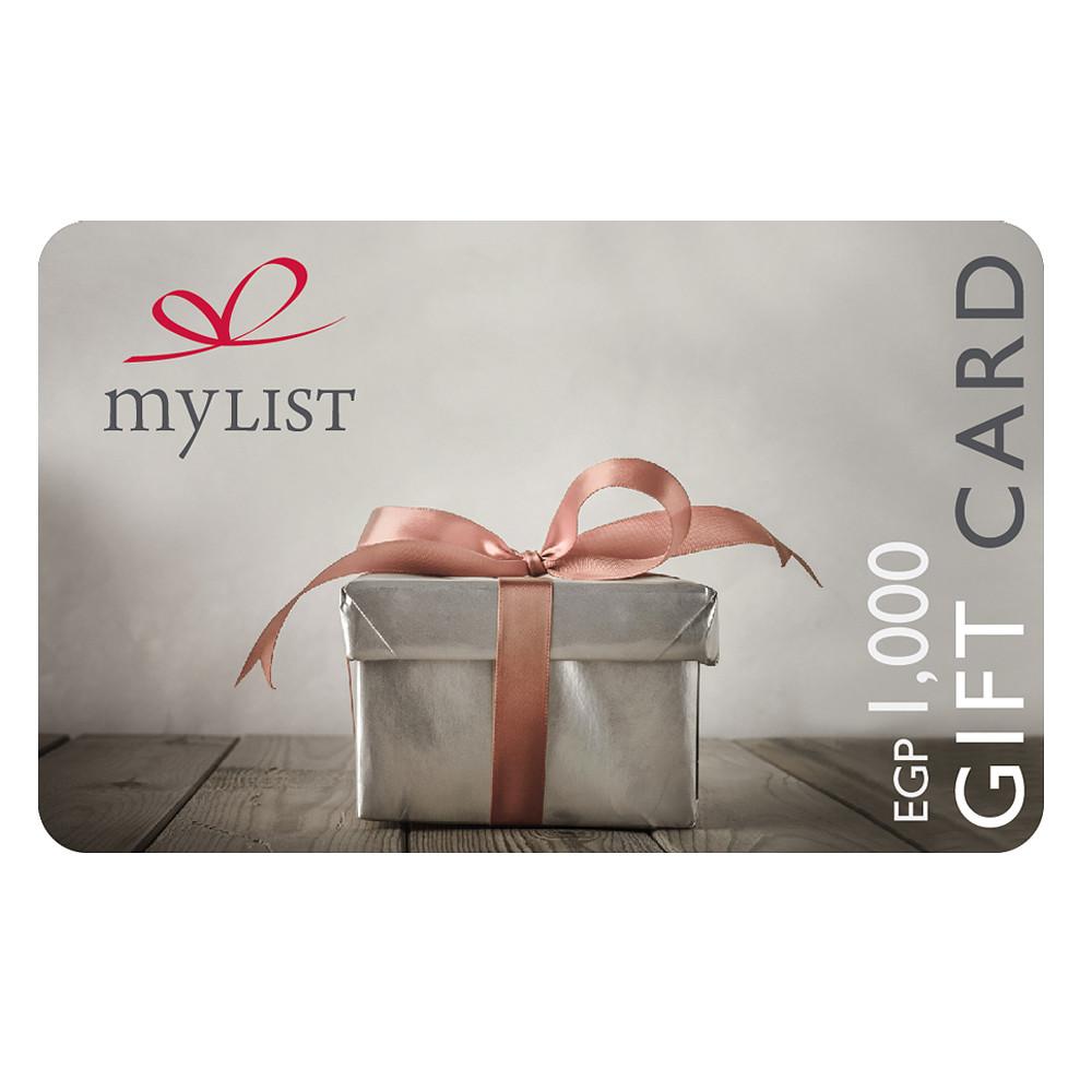 MyList E-Gift Card EGP 1,000
