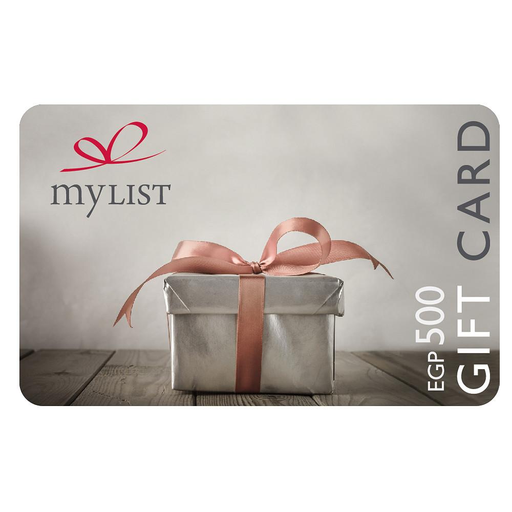 MyList E-Gift Card EGP 500