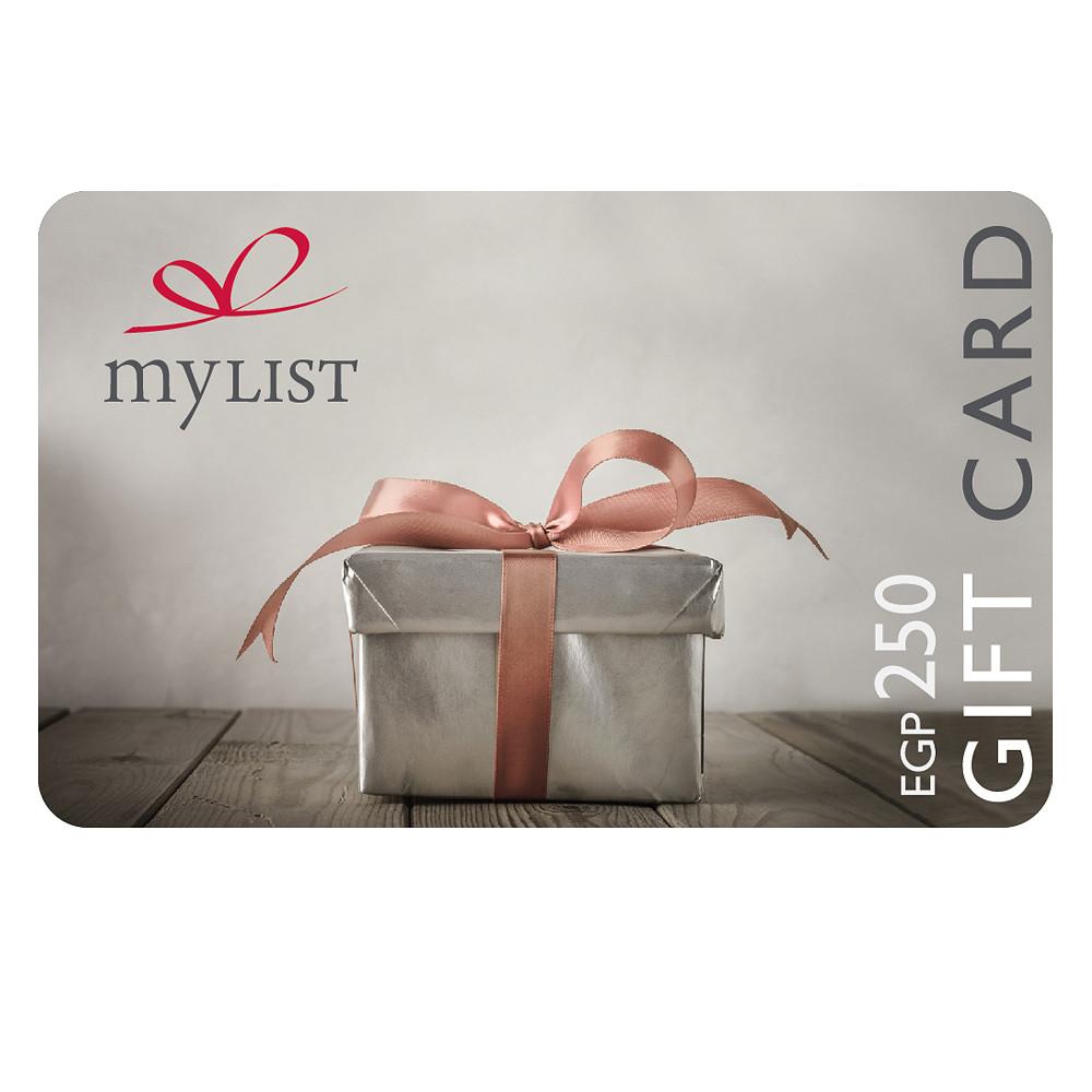 MyList E-Gift Card EGP 250