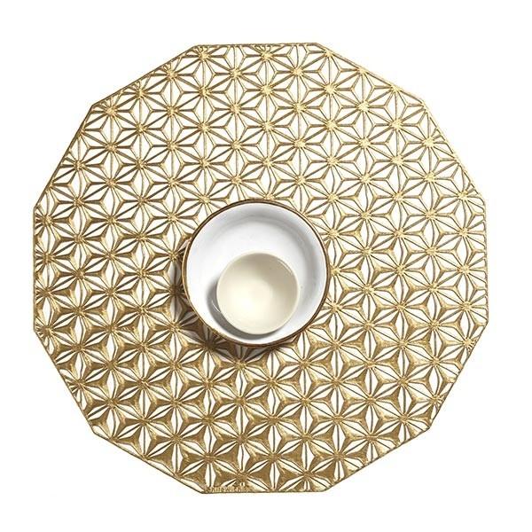 Kaleidscope Placemat 36CM Brass