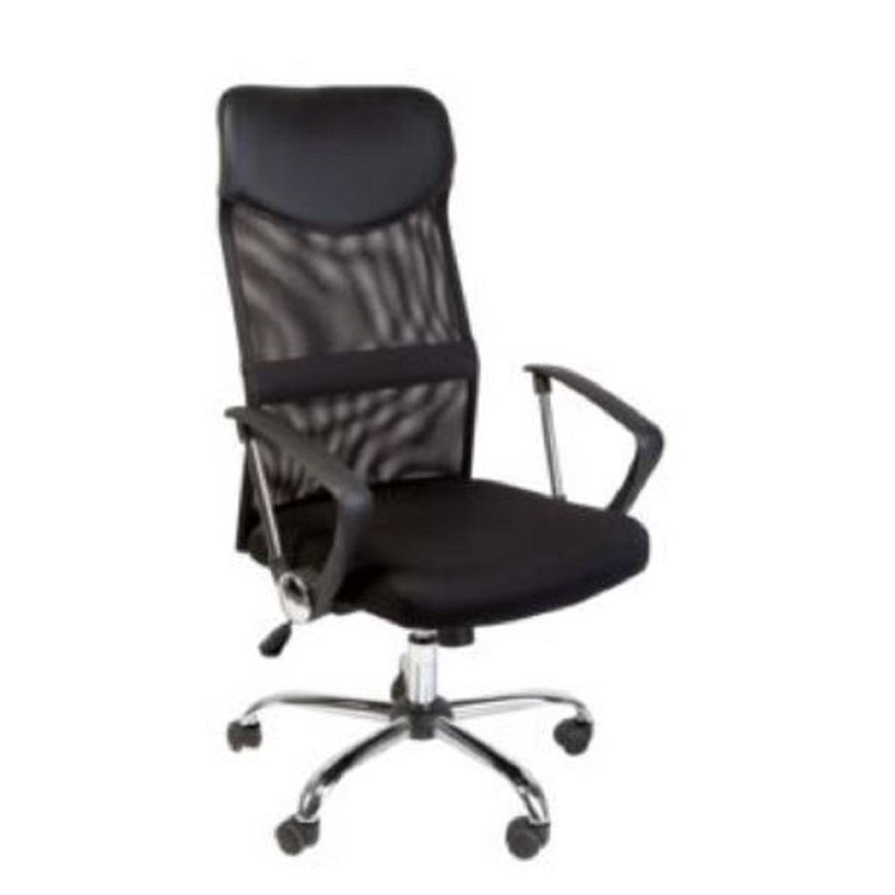 Chair Office Mesh Back Pvc Black