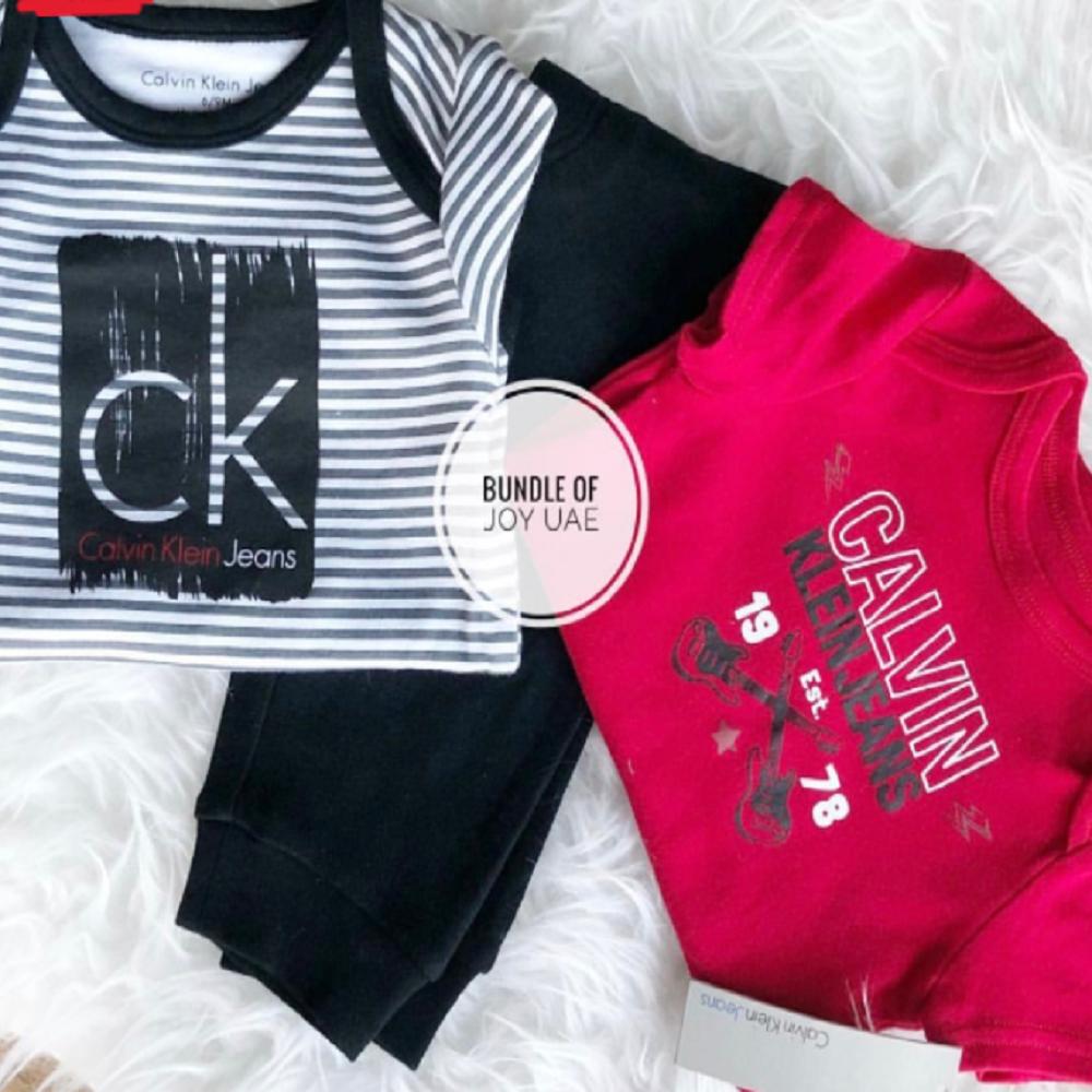 Calvin Klein Jeans 3pcs Set  - 6-9mos