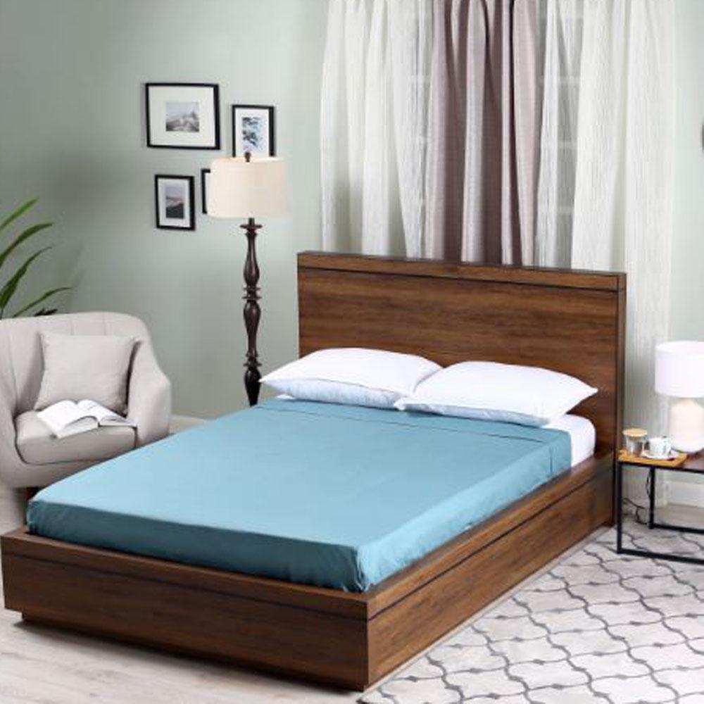 Serenity Flat Sheet - Slate Blue