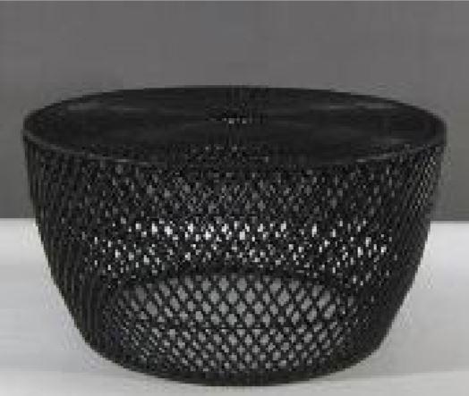 Coffee Table End Weaker Weave Black