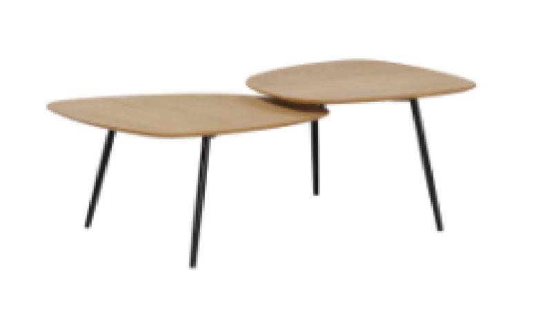 Coffee Table Overlap Oak Ven