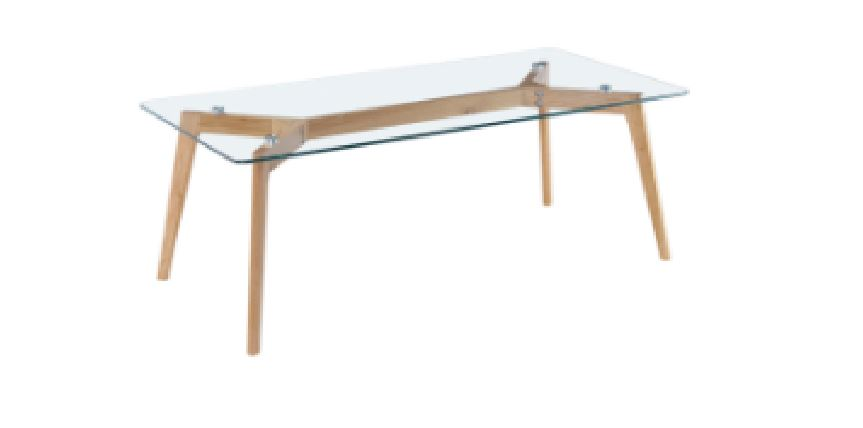 Coffee Table Glass Top with WD Leg