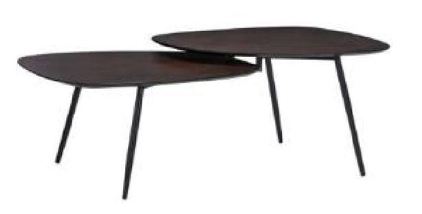 Coffee Table Overlap Walnut