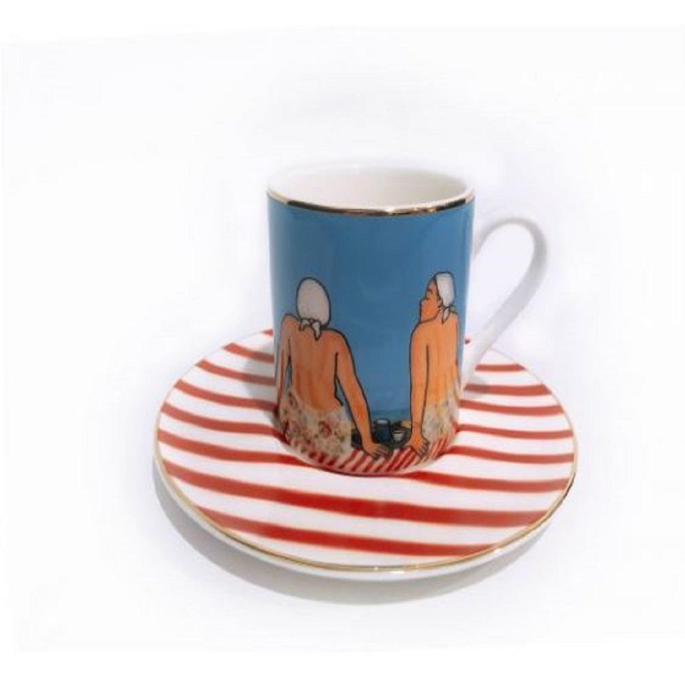 Zarina Les Beigneuses Espresso Cups - Set of 6