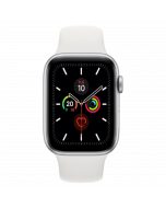 Apple Watch Series 5 GPS 40mm Silver Aluminum Case With White Sport Band