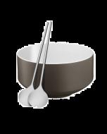 WMF Moto Salad Bowl with Servers Grey