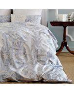 Togas Antique Bedding Set Gray & Sky Blue