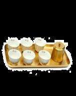 Zarina Tray + Sugar Bowl + Nawarit Chaffe Cups - Set of 6