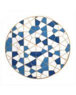 Zarina Geometric Salad/ Dessert Plates- Set of 6