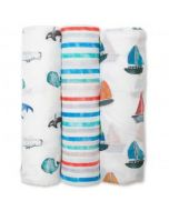 Lulujo 3-Pack Swaddle Blankets Out To Sea