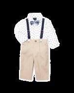 Nautica 4-Piece Sailboat Bodysuit & Khaki Pants Set - 3-6mos & 6-9mos