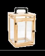Living Space Wooden Lantern (24 x 24 x 49 cm)