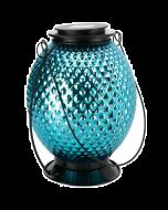 Living Space Glass Ball Shaped Solar Lantern (Blue)