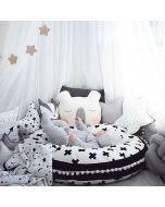 Nordic Cross Black & White Play Mat/Floor Cushion